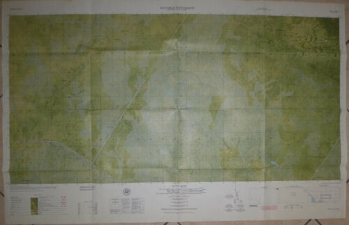 5929 i S - Combat Room Map - US Special Forces - Kien Giang - 1966 - Vietnam War