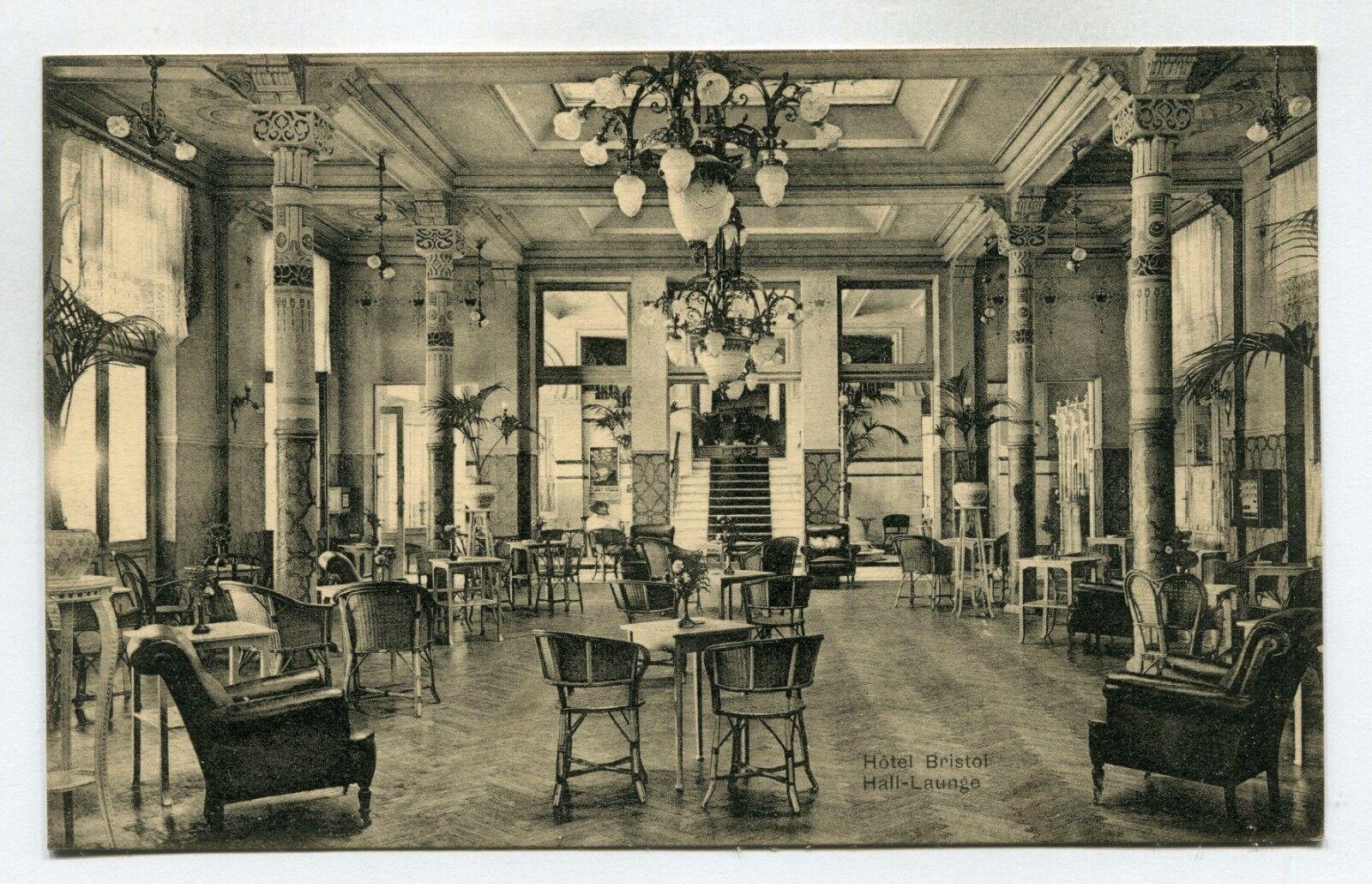 CPA - Carte Postale - Belgique -Blankenberge-Hôtel Bristol -Hall Launge (SV6483)