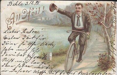 (AK9) All Heil Radfahrer gelaufen 1898