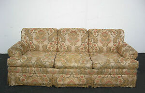 Ethan allen sofa couch with floral print fabric ebay for Z furniture outlet santa ana