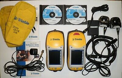 2 Trimble Geoxt Geoexplorer Series 50950-20 W Adapters Chargers Cds Guides Etc.