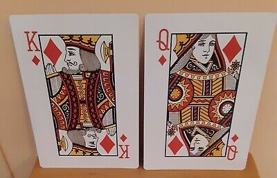 Giant Playing Card Decorations (Man Cave Poker Room Decor Jumbo 8 X 11 KING QUEEN KQ of DIAMONDS Playing Cards)