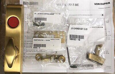 Von Duprin 377-t Thumb Turn Lock Satin Brass For Door Locks Sargent Assa Abloy