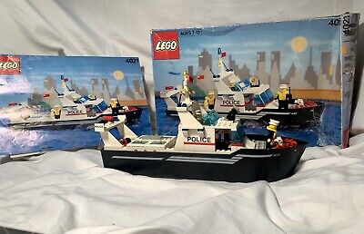 LEGO 4021 Police Patrol Boat. 100% Complete! Includes Box And Instructions