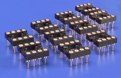 10 Ten 8-pin Dip Ic Sockets High Reliability Gold-plate 555 Timer