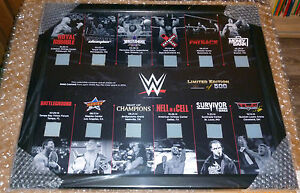 WWE PLAQUE FRAMED COMMEMORATIVE PAY PER VIEW RING CANVAS ONLY 500 IN THE WORLD