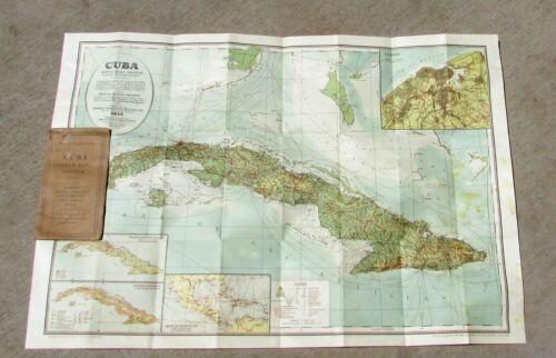 CUBA Map Fold-Out Pamphlet 1926 Prof. C.F. Byland-Fritschy