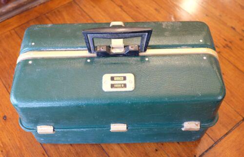 Vintage Umco 1000 U Tackle Box w/ Old Lures - Box looks poor!