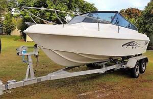 19FT BARRACUDA SPORT BOAT, NEW 2 PACK PAINT, TRAILER FULLY RECOND Ningi Caboolture Area Preview