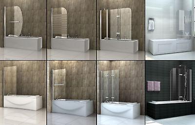 6mm Glas Duschwand für Badewannen Badewannenaufsatz Duschabtrennung