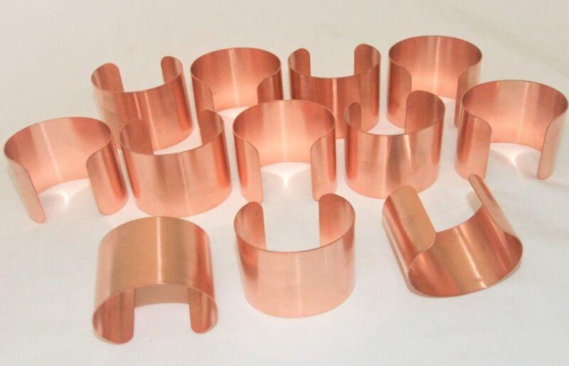 Raw Copper Bracelet Cuff Blanks Wholesale Lot 2 inch Pkg Of 12