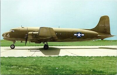 C-54 Skymaster USAAF Douglas DC-4 Vintage Postcard D35