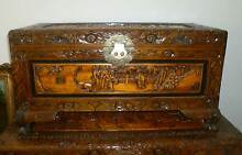 Small camphorwood chest carved glory box - excellent condition Upper Coomera Gold Coast North Preview