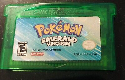 Pokemon Emerald Version (Game Boy Advance 2005) ORIGINAL AUTHENTIC (Dry Battery)