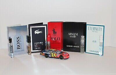 5 Men's Cologne Samples: Hugo Boss, LaCoste, Ralph Lauren, Armani, Calvin Klein