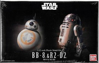 Bandai Star Wars Bb 8   R2 D2 Model Kit In 1 12  203220  St