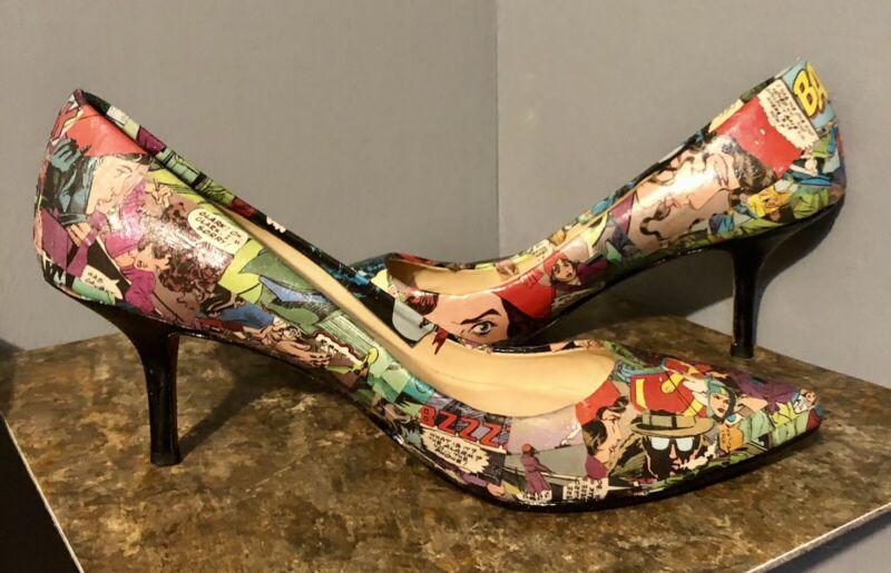 Lois Lane Custom OOAK Decoupage Cosplay High Heel Size 8.5 Ann Taylor-Smallville