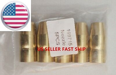 Us Seller 5 Pcs Gas Nozzles 169715 Miller M-10m-15m-100m-150hobart H-10h-14