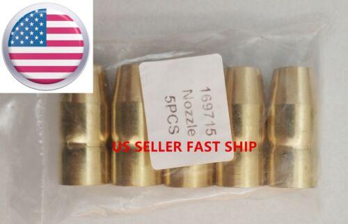 US SELLER 5 PCS Gas Nozzles 169715 Miller M-10/M-15/M-100/M-150,Hobart H-10,H-14