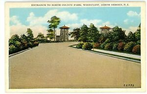 North Bergen NJ -ENTRANCE TO NORTH COUNTY PARK AT WOODCLIFF - Postcard