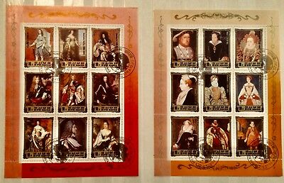 QUEEN ROYALTY KING HENRY MONARCH Thematic MINIATURE 2 SHEETS Stamps LOT 11140418