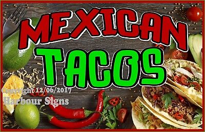 Mexican Tacos Decal Choose Your Size Food Truck Concession Vinyl Sign Sticker