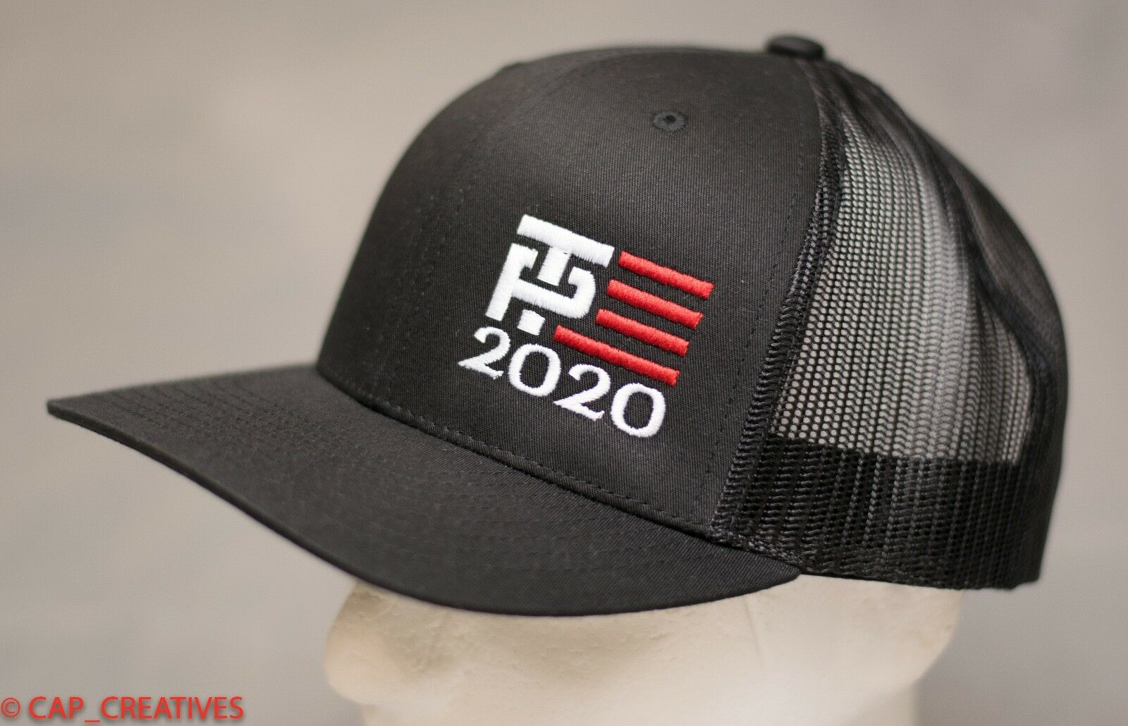 Make America Great Again- Donald Trump Hat 2020 -TP Flag US Black Mesh 112 Cap