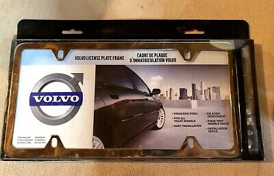 Genuine Volvo License Plate Frame 8640262 With Acorn Nuts, New , Sealed