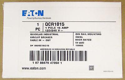 Eaton Cutler Hammer Qcr Breaker Single Pole 15 Amp  Din Rail Mount Qcr1015