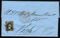 España 6 Carta Barcelona A Vich Agosto 1851 -  - ebay.es