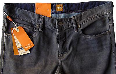 Men's HUGO BOSS ORANGE 63 Gray Coated Jeans Pants 30x32 30 NWT NEW London (Hugo Boss London)