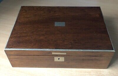 Rosewood Finished Box with Forest Green Inside Hinged Box