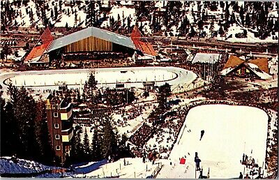 Blythe Ice Arena, Nevada Olympic Building Squaw Valley CA Vintage Postcard N08 for sale  Shipping to Canada