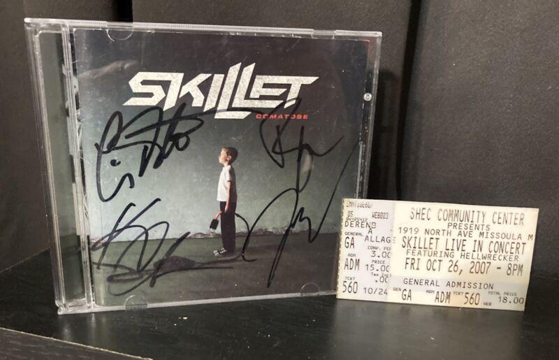 Skillet Comatose Cd Signed Booklet