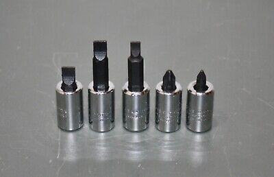 Proto Socket Bit Set 14 Drive J4737 J4738 J4743 J4744 J4745 Screwdriver