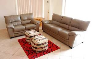 Leather Lounge - matching 3 seater & 2 seater Mount Barker Mount Barker Area Preview