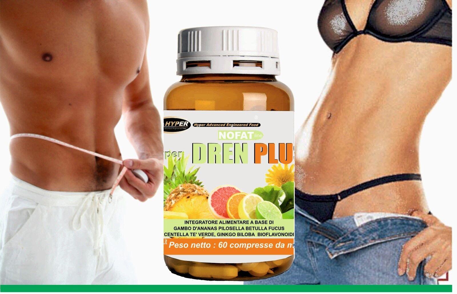 Drenante Forte   Dimagrante Potente   60 cpr   Coadiuvante dieta    Ananas Fucus