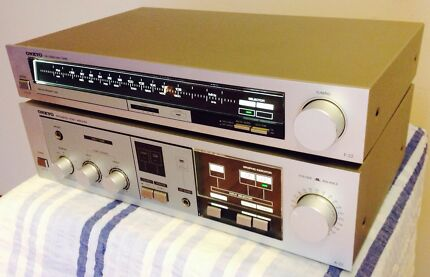 Vintage ONKYO  integrated stereo amplifier A-22& stereo tuner T-22