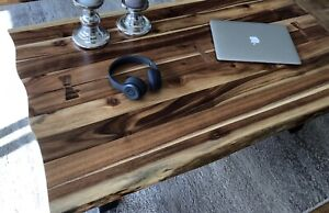 Solid Wood Coffee Table. With Live Edge