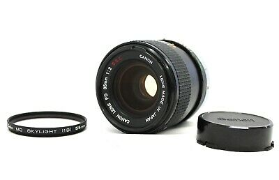 [Excellent++++] Canon FD 35mm F/2 S.S.C. SSC MF Wide Angle Lens from Japan