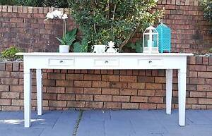 Upcycled large solid timber hall table with 3 drawers/Desk Allambie Heights Manly Area Preview