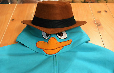 New Disney Parks AGENT P Perry Platypus PHINEAS FERB Costume Hoodie Mens XL](Agent P Costume)