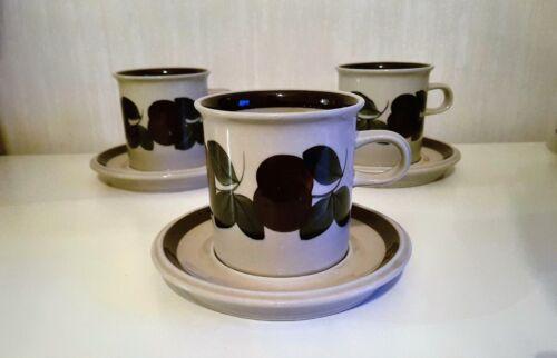 RUIJA CHOCOLATE / TEA MUG - CUP & SAUCER 1 SET ARABIA FINLAND 8,8cm*8.5cm