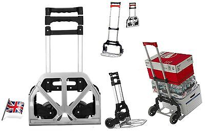 Heavy Duty Cart Folding Personal Hand sack Truck loading capaicity 80kg UKSeller