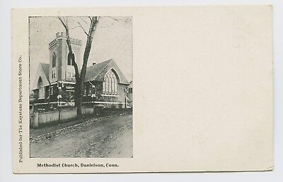 Danielson  Ct   Rare Old 1905 View   Methodist Church   Keystone   Postcard   L
