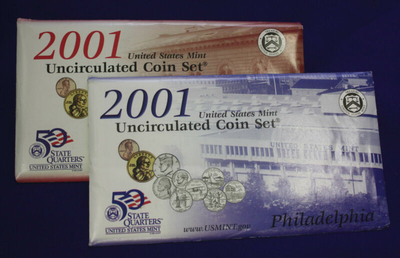 2001 UNCIRCULATED Genuine U.S. MINT SETS ISSUED BY U.S. MINT