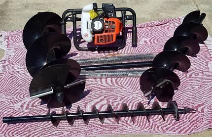 Post Hole Digger Borer 2 Stroke Power 88cc NEW