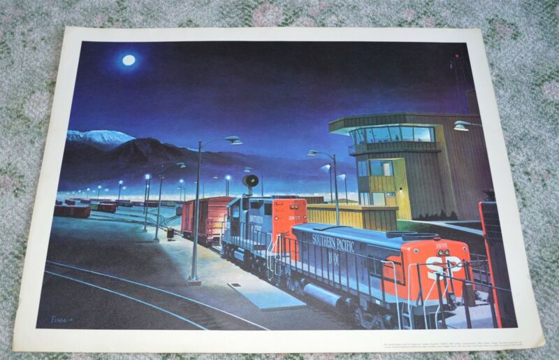 Southern Pacific Railroad West Colton Freight Terminal Print by Fogg