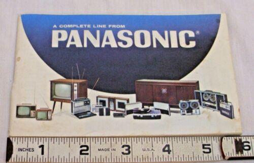 PANASONIC ELECTRONICS 1970s PRODUCT LINE CATALOG RADIOS, TV