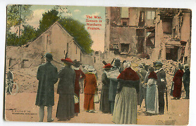 The War Scenes in Northern France 1917 Stamp Intact